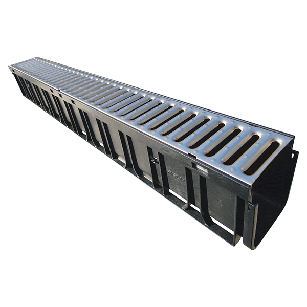 Rain Drain 1m Channel Amp Galvanised Grate Dux Nz